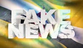 illustration 3D de faux concept de nouvelles avec le drapeau de fond du Brunei illustration stock