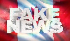 illustration 3D de faux concept de nouvelles avec le drapeau de fond du Canada illustration libre de droits
