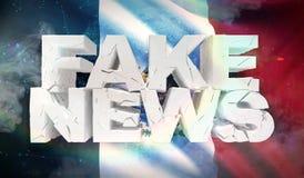 illustration 3D de faux concept de nouvelles avec le drapeau de fond du Mexique illustration de vecteur