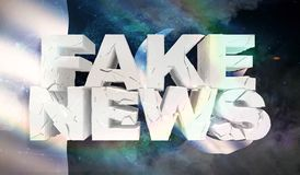 illustration 3D de faux concept de nouvelles avec le drapeau de fond du Pakistan illustration libre de droits