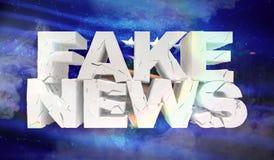 illustration 3D de faux concept de nouvelles avec le drapeau de fond de Kosovo illustration stock