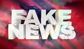 illustration 3D de faux concept de nouvelles avec le drapeau de fond de l'Albanie illustration stock