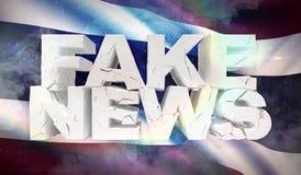 illustration 3D de faux concept de nouvelles avec le drapeau de fond de la Thaïlande illustration libre de droits