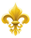 Illustration d'or de Fleur-de-lis Images libres de droits