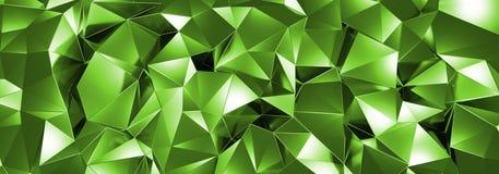 ILLUSTRATION 3d, de fond en cristal abstrait, texture triangulaire, au loin panoramique pour le papier peint illustration de vecteur