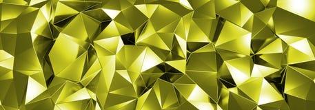 ILLUSTRATION 3d, de fond en cristal abstrait, texture triangulaire, au loin panoramique pour le papier peint illustration stock