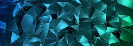 ILLUSTRATION 3d, de fond en cristal abstrait, texture triangulaire, au loin panoramique pour le papier peint illustration libre de droits
