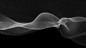 illustration 3d de fond scientifique de structure abstraite de vague Photographie stock