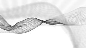 illustration 3d de fond scientifique de structure abstraite de vague Photo stock