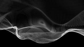 illustration 3d de fond scientifique de structure abstraite de vague Photos libres de droits