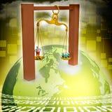 illustration 3d de graphique de gestion coloré d'anneau Image libre de droits