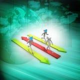 illustration 3d de graphique de gestion coloré d'anneau Images libres de droits