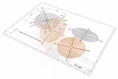 illustration 3D de gril de fan Photos stock