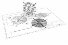 illustration 3D de gril de fan illustration libre de droits