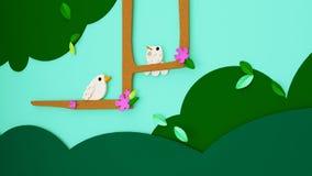 illustration 3D de journée de printemps ou de Pâques avec des couleurs vives pour le PO Photos libres de droits
