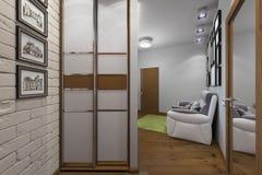 illustration 3D de l'appartement à une pièce illustration libre de droits