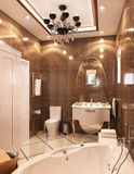 illustration 3D de la salle de bains Image stock