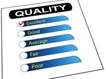 Liste de contrôle de rapport d'enquête de qualité Photo stock