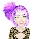 illustration 3D de Manga Girl Images libres de droits