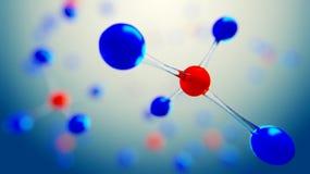 illustration 3d de modèle de molécule Fond de la Science avec des molécules et des atomes Illustration Stock