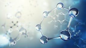 illustration 3d de modèle de molécule Fond de la Science avec des molécules et des atomes Illustration de Vecteur
