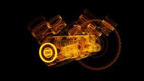 illustration 3D de molécule de fer faite d'acier inoxydable Photos libres de droits
