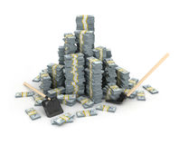 illustration 3d de pile des dollars plus de Images libres de droits