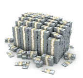 illustration 3d de pile des dollars plus de Photo libre de droits
