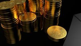 Illustration d'or de rendu de la pièce de monnaie 3D de Bitcoin Devise de Digital illustration de vecteur