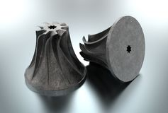 illustration 3D de roue à aubes de turbo illustration de vecteur