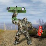 illustration 3D de scène de destruction d'action de Troll de monstre Photographie stock
