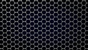 illustration 3d de structure de graphene Illustration Stock