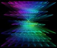 illustration 3D de structure géométrique colorée de connexion de sheme Photos stock