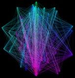 illustration 3D de structure géométrique colorée de connexion de sheme Image stock