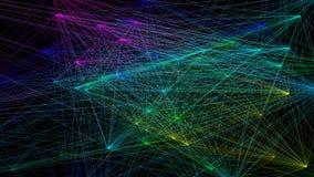 illustration 3D de structure géométrique colorée de connexion de sheme Illustration de Vecteur
