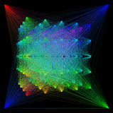 illustration 3D de structure géométrique colorée de connexion de sheme Illustration Libre de Droits