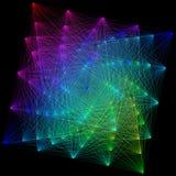 illustration 3D de structure géométrique colorée de connexion de sheme Photos libres de droits