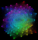illustration 3D de structure géométrique colorée de connexion de sheme Image libre de droits