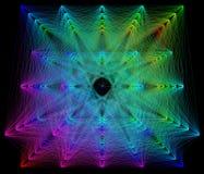 illustration 3D de structure géométrique colorée de connexion de sheme Illustration Stock