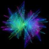 illustration 3D de structure géométrique colorée de connexion de sheme Photographie stock libre de droits