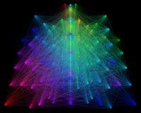 illustration 3D de structure géométrique colorée de connexion de sheme Photographie stock
