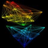 illustration 3D de structure géométrique de connexion de modèle Illustration Libre de Droits