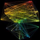 illustration 3D de structure géométrique de connexion de modèle Illustration Stock