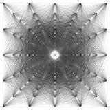 illustration 3D de structure géométrique de connexion de sheme Photos stock