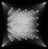 illustration 3D de structure géométrique de connexion de sheme Photo libre de droits