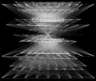 illustration 3D de structure géométrique de connexion de sheme Images stock