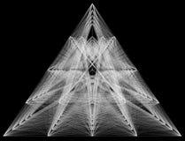 illustration 3D de structure géométrique de connexion de sheme Photographie stock libre de droits