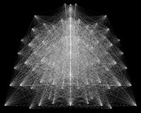 illustration 3D de structure géométrique de connexion de sheme Image libre de droits