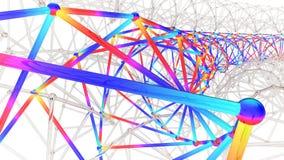 illustration 3D de structure multi d'ingénierie de section illustration libre de droits