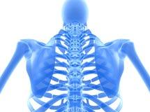 illustration 3D de système cadre bleu brillant Image libre de droits
